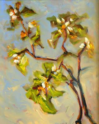 American artist Carol McCall. Apple Blossoms