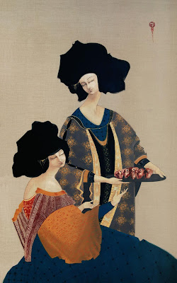 Hayv Kahraman's Paintings. Heads on the Plate