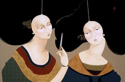 Hayv Kahraman's Painting. Domesticated Marionettes