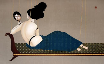 Paintings by Hayv Kahraman. Toilette