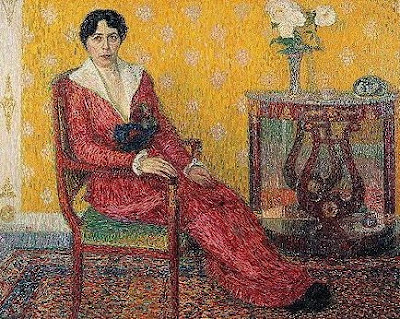 Belgian Artist Leon De Smet. Young Woman in an Interior