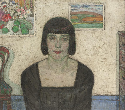 Belgian Artist Leon De Smet. Portrait of the Artist's Wife
