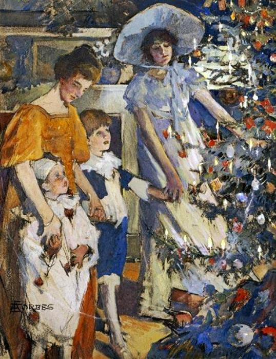 Elizabeth Adela Forbes. Christmas Time,Christmas in painting