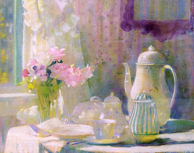 Laura Coombs Hills. Pastel Painting Breakfast