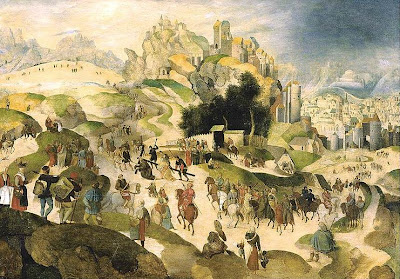 Abel Grimmer. The Road to Cavalry, 1599