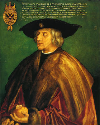 Albrecht Durer. Portrait of Portrait of Emperor Maximilian