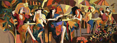 Women in Painting by Israeli Artist Isaac Maimon