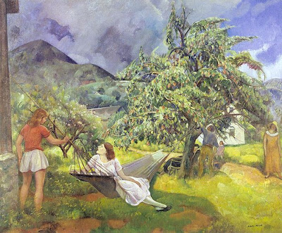 Hammock in  Painting Leon Kroll