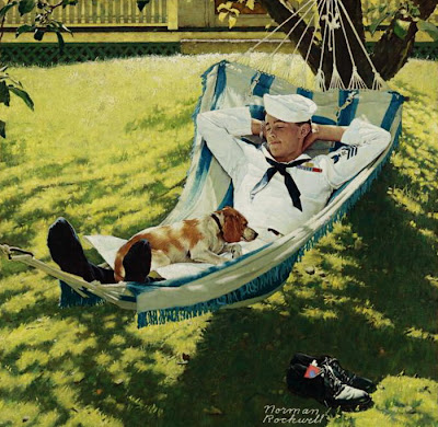 Hammock in  Painting Norman Rockwell