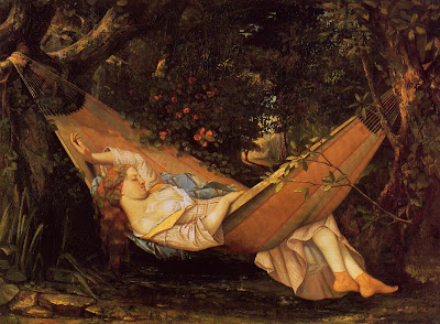 Hammock in  Painting Gustave Courbet