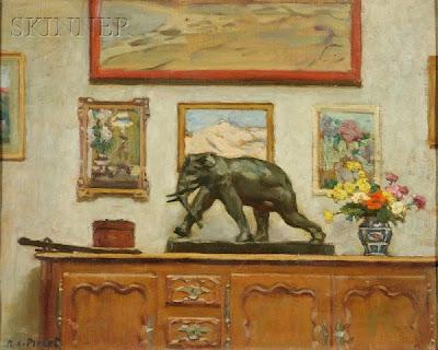 Interior Painting by French Impressionist Artist Rene Xavier Prinet
