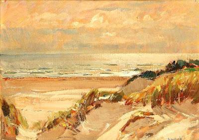 Scandinavian Summer Landscpe Painting Niels Holbak