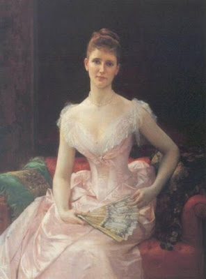 Fan in Painting Portrait Of Young Lady by Cabanel