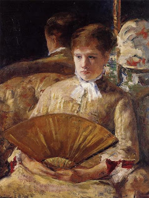 Fan in Painting Mary Cassattid=