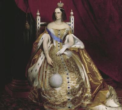 Fan in Painting Empress Alexandra Feodorovna of Russia