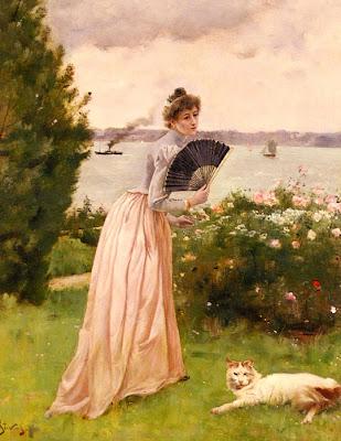 Fan in Painting Alfred Stevens