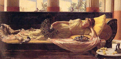 Fan in Painting John William Waterhouse Sweet nothings