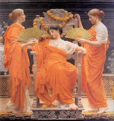 Fan in Painting Albert Joseph Moore Midsummerid=