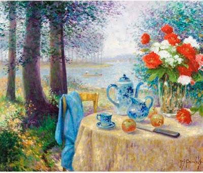 Garden Painting by Belgian Artist Jos Pauwels