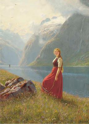 Landscape Paintings by Hans Dahl Norwegian Artist