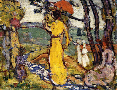 Painting by American Post Impressionist Artist Maurice Prendergast