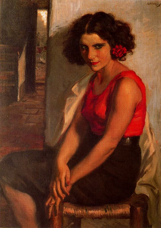 Women in Painting, George Owen Wynne Apperley,figurative oil painting, portrait painting