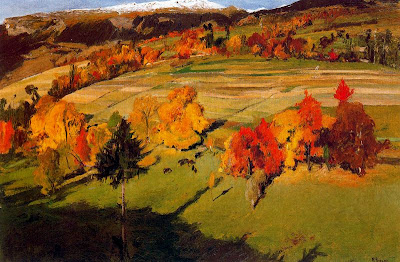 Landscape Painting by Swiss Artist Ernest Bieler