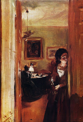 Oil Painitng by German Painter Adolf von Menzel