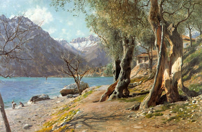 Painting by Peder Monsted Danish Artist