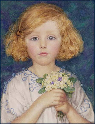 Children in Painting by Margaret W Tarrant British Artist