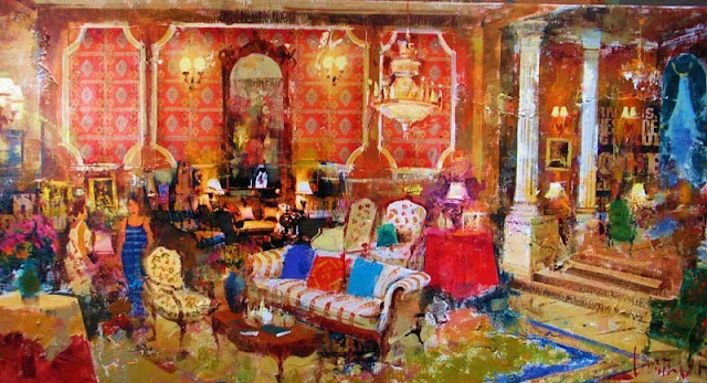 Interior Painting by Contemporary Spanish Artist Costa Vila