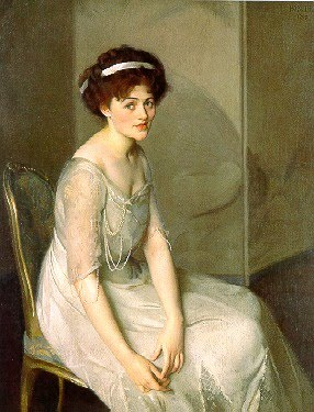 Oil Painting by Impressionist Artist William McGregor Paxton