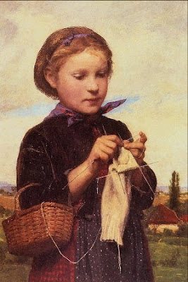 Oil Painting by Swiss Artist Albert Anker
