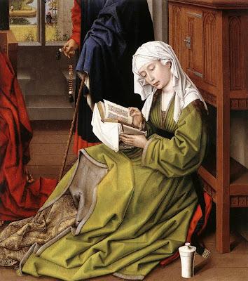 Magdalene Reading, 1445 by Belgian Renaissance Painter Rogier van der Weyden