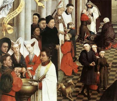 Seven Sacraments Altarpiece by Belgian Renaissance Painter Rogier van der Weyden