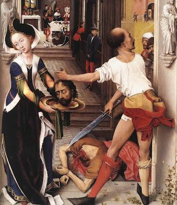 St John Altarpiece (detail) by Belgian Renaissance Painter Rogier van der Weyden