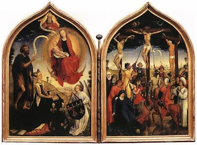Diptych of Jeanne of France by Belgian Renaissance Painter Rogier van der Weyden