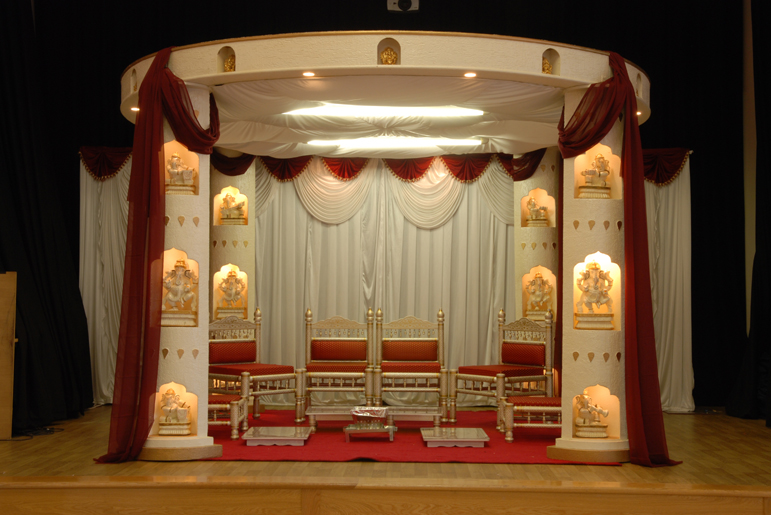 Ganesh Chaturthi Of 2012  Ganpati Stage Decoration