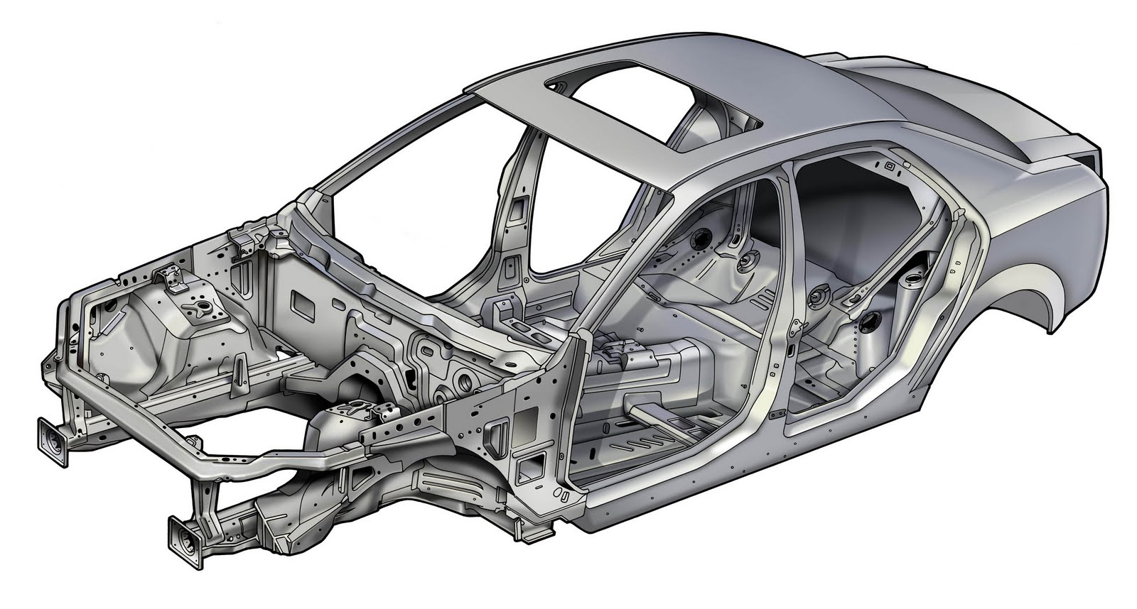 2010 Cadillac Cts Safety Cage And Body Structure Boron