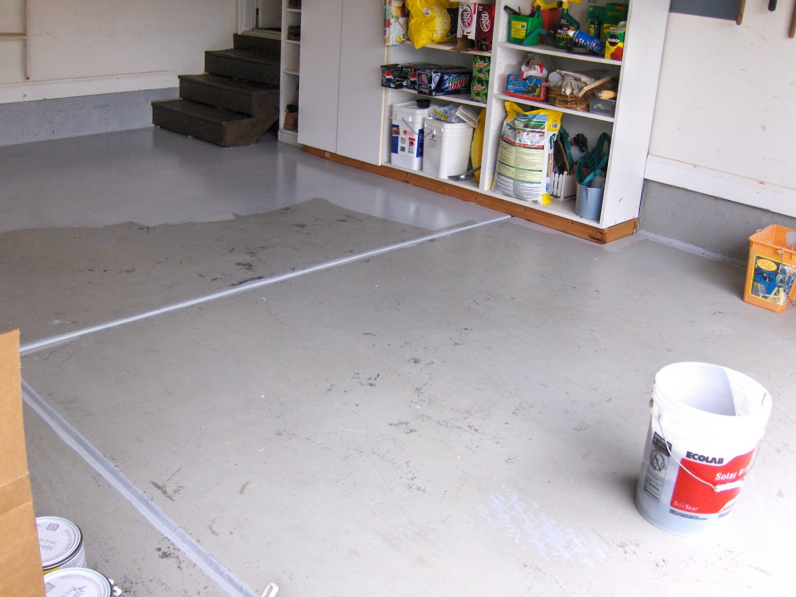 Convenience products concrete and garage floor paint floor for Best way to clean painted concrete floors