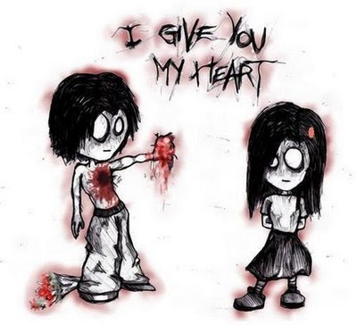 emo love kiss cartoon. emo love cartoons images.