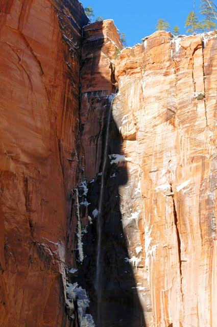 Zion Canyon Waterfall