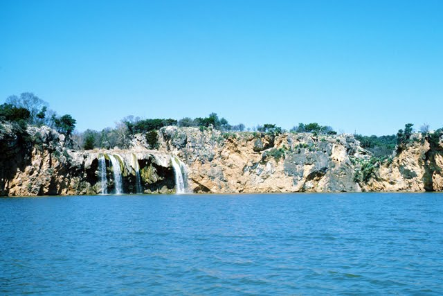Waterfall on Lake Buchanan