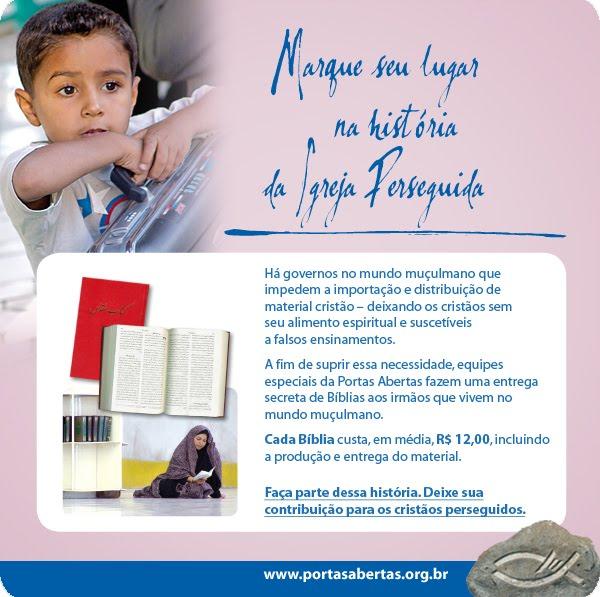 Contribua enviando a Palavra ao mundo!