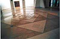 9 - A Suprema Corte de Israel - Cristal e desenho do Piso do salão