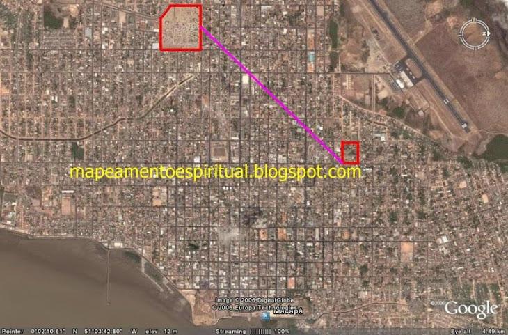 1 - Macapa (AP) - Ligando os principais lugares de adoração católicos (igrejas e capelas)