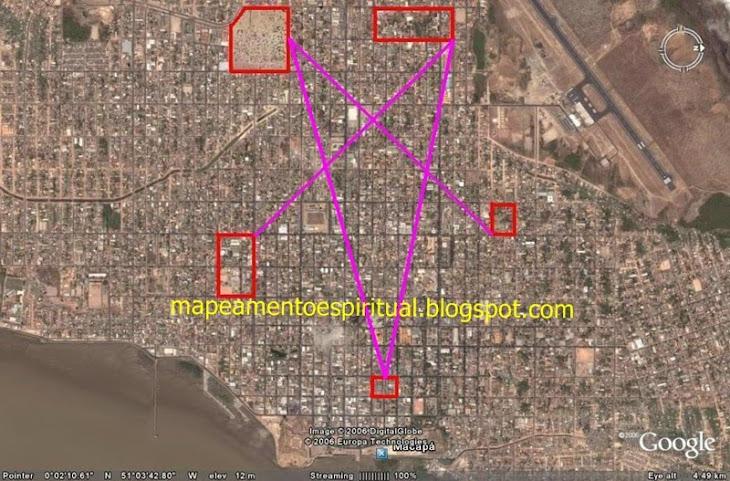 4 - Macapá (AP) - Ligando-se os principais centros de adoração católicos. (igrejas e capelas)