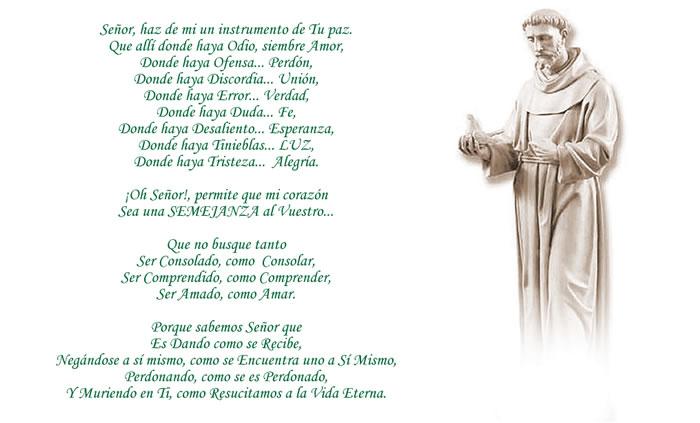 Oración de San Francisco de Asís
