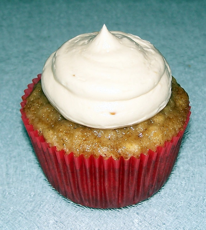 The Tiny Tyrant's Kitchen: Apple Cupcakes with Caramel Buttercream