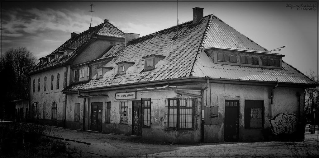 Lidzbark Warmiński. Dawny dworzec PKP